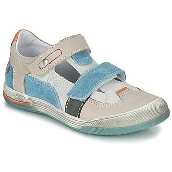 Schuhe Jungen Sandalen / Sandaletten GBB PRINCE Naturfarben / Beige / Blau