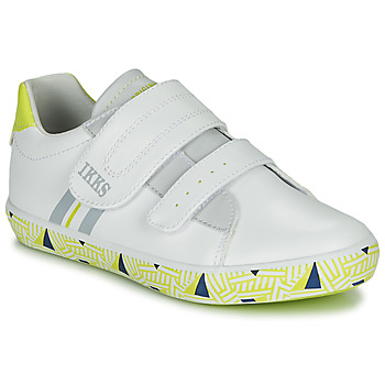 Schuhe Jungen Sneaker Low Ikks JOE Weiss / Gelb