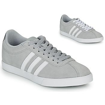 Schuhe Damen Sneaker Low adidas Originals COURTSET GRIS Grau