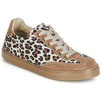 Schuhe Damen Sneaker Low André ARDOISE Leopard