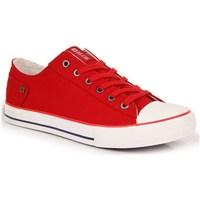 Schuhe Damen Sneaker Low Big Star INT1092B Weiß,Rot