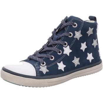 Schuhe Mädchen Sneaker High Salamander High Starlet 33-13654-22 jeans Suede 33-13654-22 blau