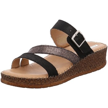 Schuhe Damen Leinen-Pantoletten mit gefloch Jenny By Ara Pantoletten 22-17722-01 schwarz