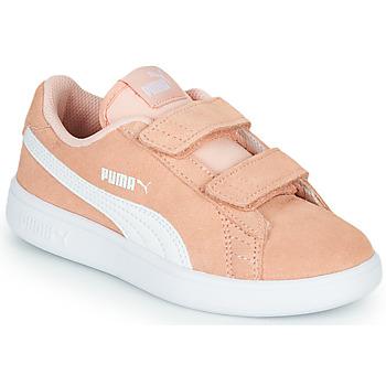 Schuhe Mädchen Sneaker Low Puma SMASH PSV PEACH Korallenrot
