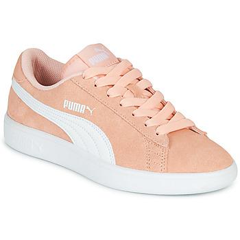 Schuhe Mädchen Sneaker Low Puma SMASH V2JR PEAC Korallenrot