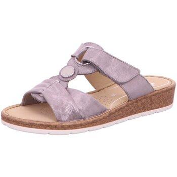 Schuhe Damen Sandalen / Sandaletten Ara Pantoletten POSITANO 12-16113-07 grau