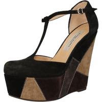 Schuhe Damen Sandalen / Sandaletten Gianni Marra keilschuhe schwarz wildleder grau AK894 schwarz
