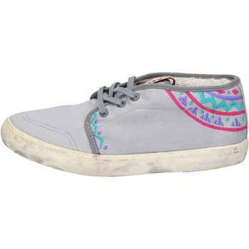Schuhe Damen Sneaker Low Date sneakers grau textil AP518 grau