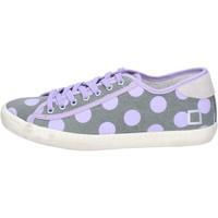 Schuhe Damen Sneaker Low Date sneakers grau textil lila ap561 grau