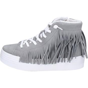 Schuhe Damen Sneaker High 2 Stars sneakers grau wildleder ap707 grau