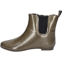 Schuhe Damen Low Boots Colors of California stiefeletten gold gummi AY813 gold