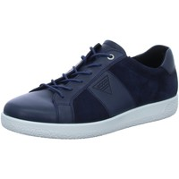 Schuhe Herren Sneaker Low Ecco Schnuerschuhe 400634-51303-Soft-1 blau