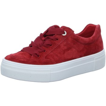 Schuhe Damen Sneaker Low Legero Schnuerschuhe 00910-50 rot