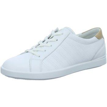 Schuhe Damen Sneaker Low Ecco Schnuerschuhe  LEISURE weiß
