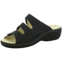 Schuhe Damen Sandalen / Sandaletten Longo Pantoletten Pantolette 1006395 schwarz