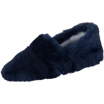 Schuhe Damen Hausschuhe Giesswein Gloggnitz 40320-588 ocean Lammfell 40320-588 blau