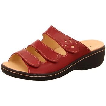 Schuhe Damen Pantoffel Longo Pantoletten Pantolette 1006394 rot