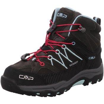 Schuhe Mädchen Boots Cmp F.lli Campagnolo Bergschuhe KIDS RIGEL MID TREKKING SHOES 3Q12944 76BN grau