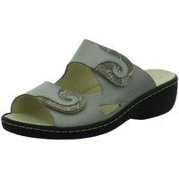 Schuhe Damen Sandalen / Sandaletten Longo Pantoletten Bequem-Pantolette,taupe/nuss 1019289 2 grau