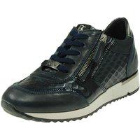 Schuhe Damen Sneaker Low Dl-Sport Schnuerschuhe GOMMA PELLE 3630-626-version-c blau