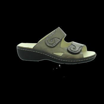 Schuhe Damen Pantoffel Longo Pantoletten Beq-Pantl-Wörishf-30 1006406 grün