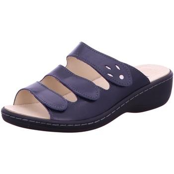 Schuhe Damen Sandalen / Sandaletten Longo Pantoletten 1006395 blau