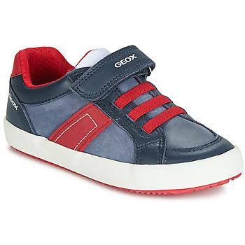 Schuhe Jungen Sneaker Low Geox ALONISSO Navy / Rot
