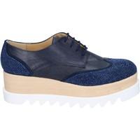 Schuhe Damen Derby-Schuhe & Richelieu Olga Rubini elegante blau synthetisches leder wildleder strass BS96 blau