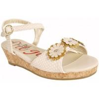 Schuhe Mädchen Sandalen / Sandaletten Flower Girl 221001-B4600 Beige