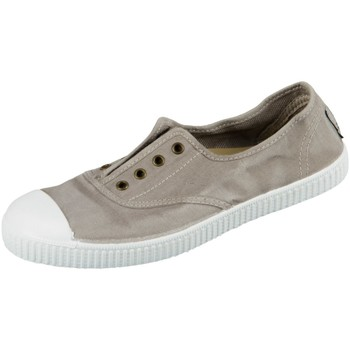 Schuhe Damen Tennisschuhe Natural World Eco Slipper W70777-170 gris clarc taupe organic cotton W70777-170 grau