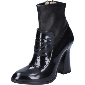 Schuhe Damen Low Boots Roberto Botticelli stiefeletten leder schwarz
