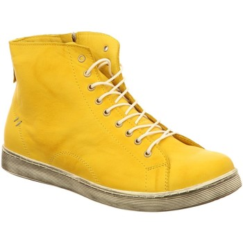 Schuhe Damen Sneaker High Andrea Conti Stiefeletten 0341500051 gelb