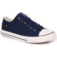Schuhe Damen Sneaker Low Big Star INT1092C Weiß,Dunkelblau