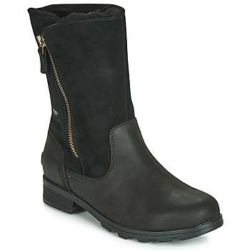 Schuhe Damen Boots Sorel EMELIE FOLDOVER Schwarz