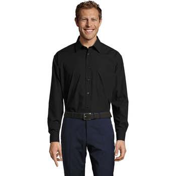 Kleidung Herren Langärmelige Hemden Sols BALTIMORE FASHION WORK Negro