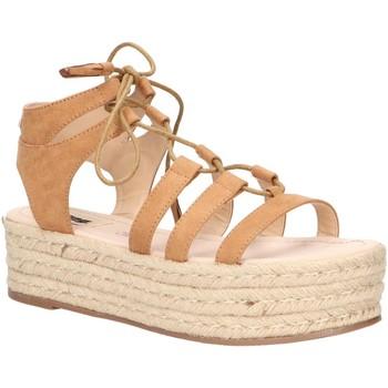 Schuhe Damen Leinen-Pantoletten mit gefloch MTNG 51096 Marr?n