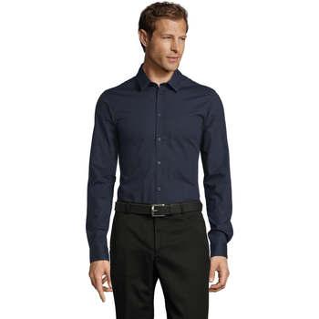 Kleidung Herren Langärmelige Hemden Sols BLAKE MODERN MEN Azul