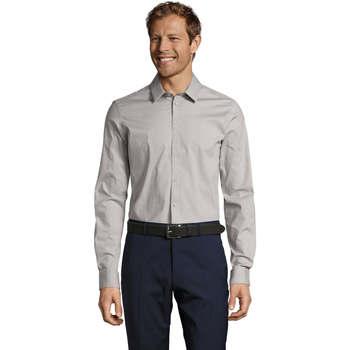 Kleidung Herren Langärmelige Hemden Sols BLAKE MODERN MEN Gris