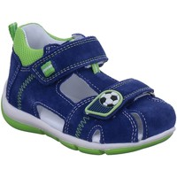 Schuhe Jungen Babyschuhe Superfit Sandalen FREDDY,BLAU/HELLGRÜN 4-00144-80 blau