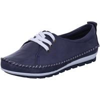 Schuhe Damen Derby-Schuhe Gemini Schnuerschuhe Sommerlicher Schnürschuh in Blau 311278-01-802 blau