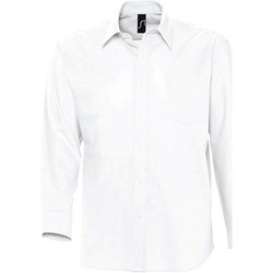 Kleidung Herren Langärmelige Hemden Sols BOSTON STYLE OXFORD Blanco