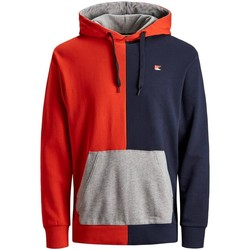Kleidung Jungen Sweatshirts Jack & Jones JORCOLOURBLOCKS SWEAT HOOD Rot