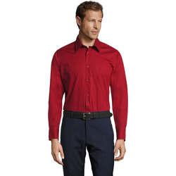 Kleidung Herren Langärmelige Hemden Sols BRIGHTON STRECH Rojo