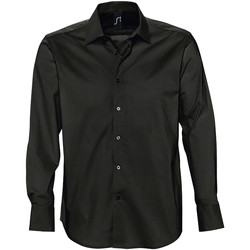 Kleidung Herren Langärmelige Hemden Sols BRIGHTON STRECH Negro