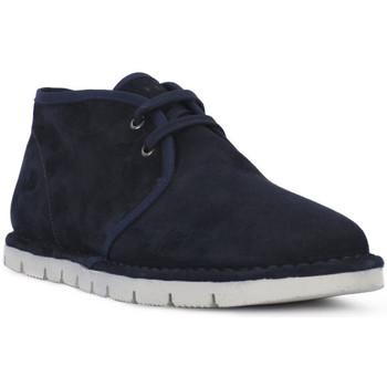Schuhe Herren Boots Frau SUEDE BLU Blu