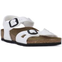 Schuhe Jungen Sandalen / Sandaletten Birkenstock RIO WHITE Bianco