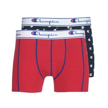 Unterwäsche Herren Boxer Champion MIX UNI + IMPRIME X2 Schwarz / Rot