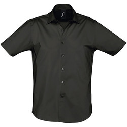 Kleidung Herren Kurzärmelige Hemden Sols BROADWAY STRECH MODERN Negro