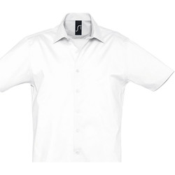 Kleidung Herren Kurzärmelige Hemden Sols BROADWAY STRECH MODERN Blanco