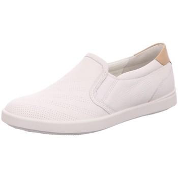 Schuhe Damen Slipper Ecco Slipper Slipper Halbschuh Casual LEISURE 205043 59529 weiß